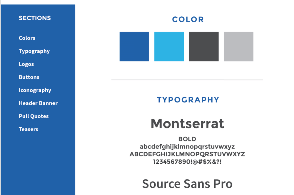 Plans for the Visual Style Guide