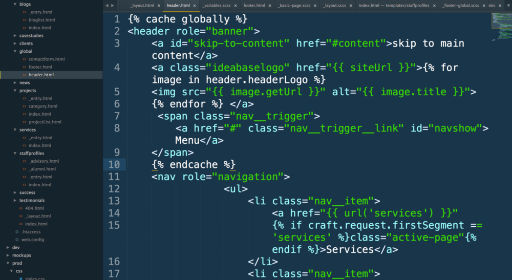 Hand Coding the Craft Templates Using the Twig Templating Language