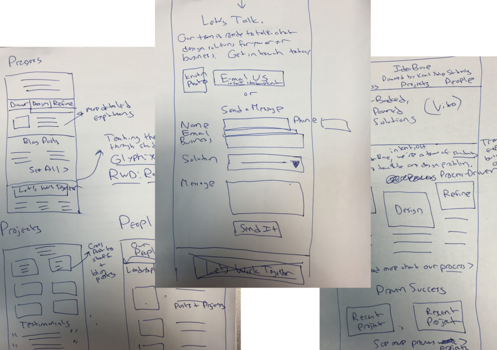 Rough Interface Sketches