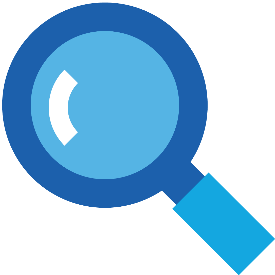 magnifying glass icon blue - photo #47