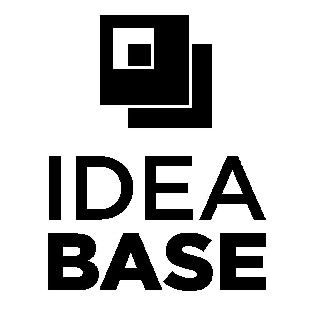 Idea Base Logo Stacked Black