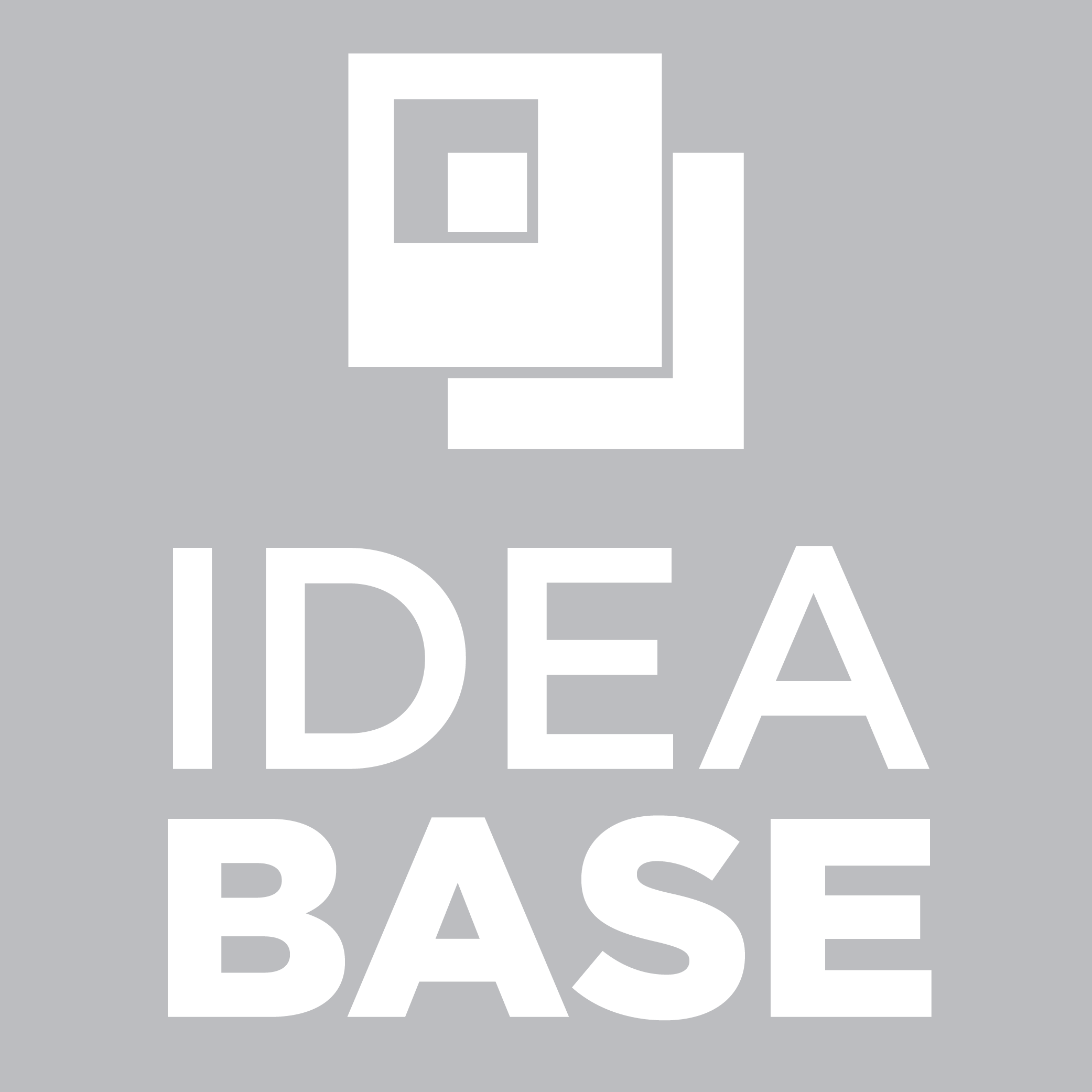 Idea Base Logo Stacked White