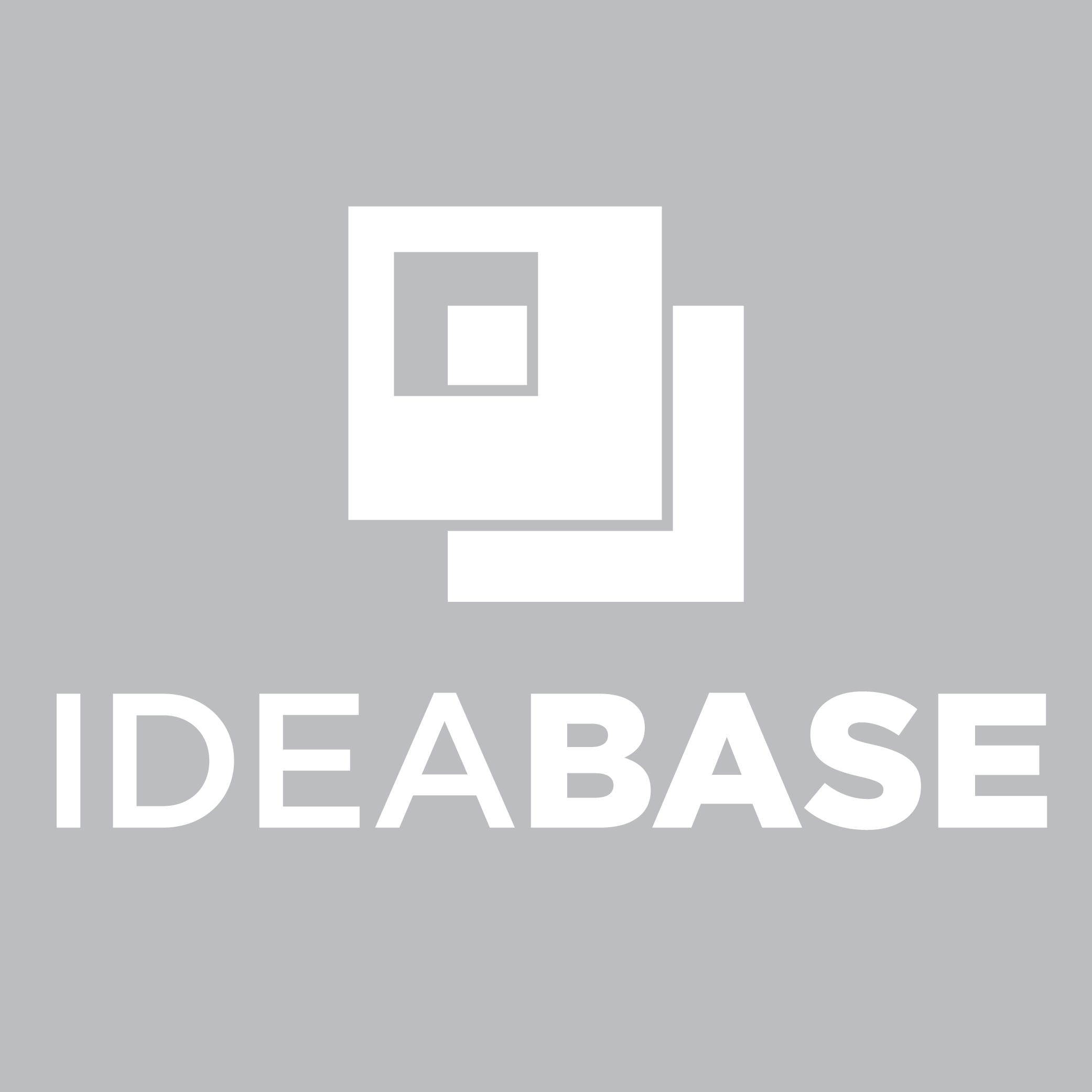 Idea Base Logo Vertical White